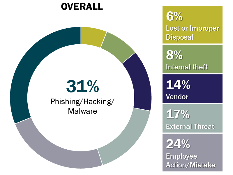 Cybersecurity pie chart