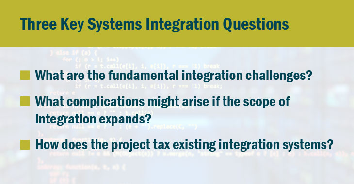 Three Key Systems Integration Questions graphic